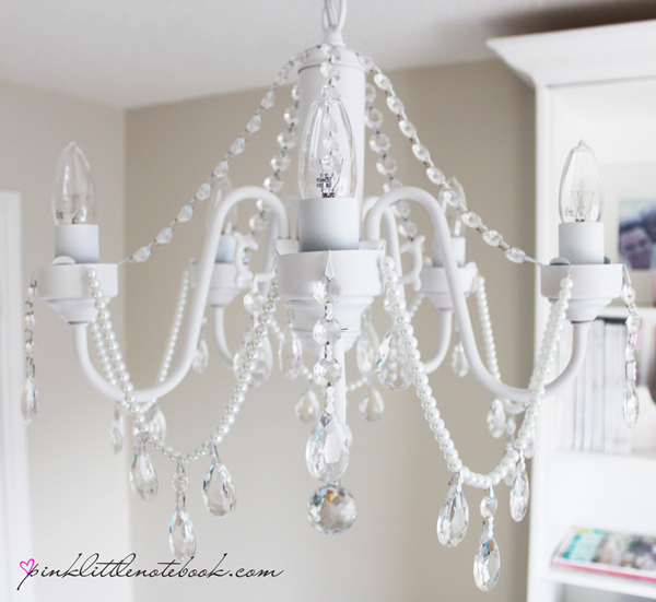 Chandeliercrystaiydiy Chandelierpearlswhite Chandelier With Crystals And Pearls