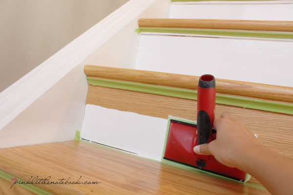 Painting a stair riser in 10 seconds or less a must have for Painted stair treads