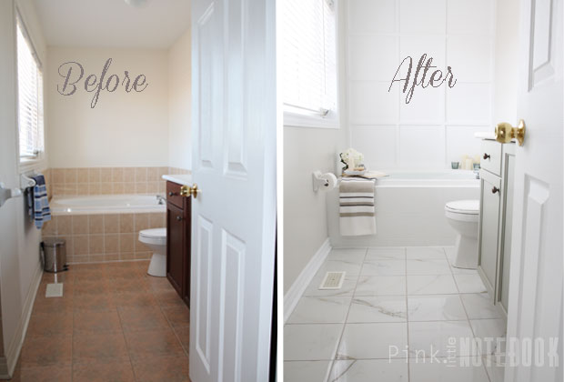 Yes you really can paint tiles rust oleum tile for Painting bathroom tile before and after