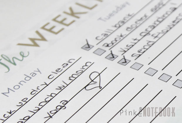 the ultimate weekly to do list free printable pink little