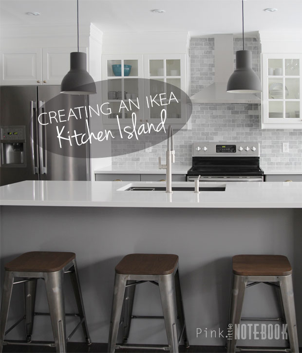 creating an ikea kitchen island pink little notebook