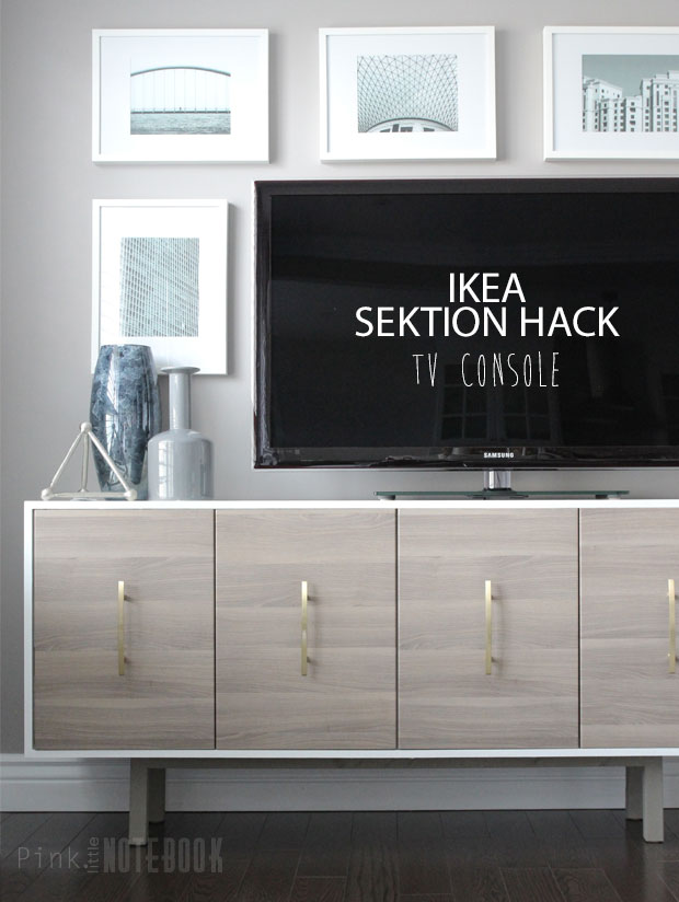 ikea sektion hack tv console pink little notebookpink little notebook. Black Bedroom Furniture Sets. Home Design Ideas