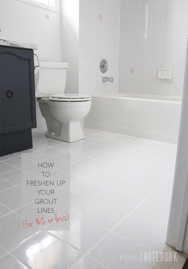 Sensational How To Freshen Up Your Grout Lines For 2 Or Less Pink Home Interior And Landscaping Synyenasavecom