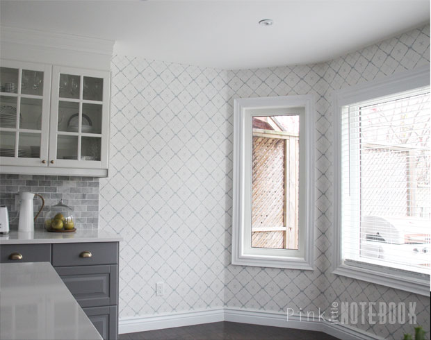 Although This Pattern Was One Of The Bolder Choices I Felt Trellis Is Just What Needed To Add That Traditional Element With A Modern Twist