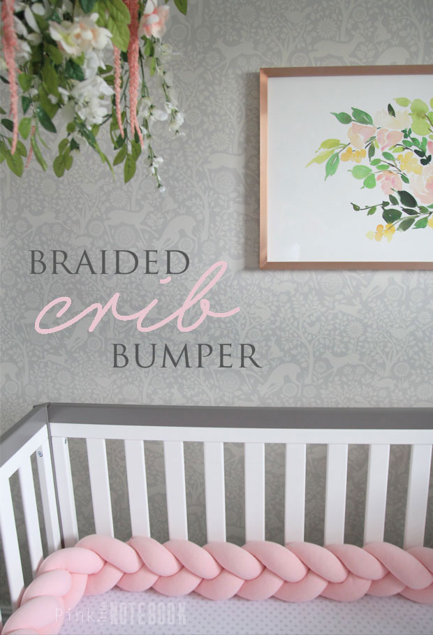The Perfect Braided Crib Bumper From Juju Jake Pink Little