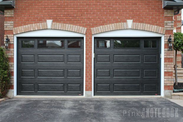 Although The Black Garage Is A Deep Contrast Against Our Red Brick I Will Show You In Upcoming Posts How Pull Together Cohesive Look