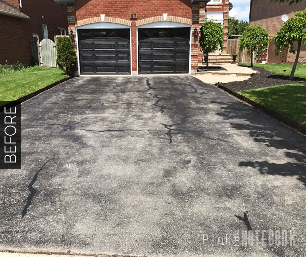 How To Renew Your Dated Curbs Amp Driveway Pink Little