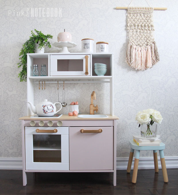Customizing your ikea duktig play kitchen pink little for Ikea child kitchen set