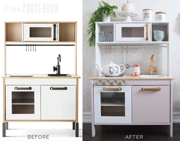 Customizing your ikea duktig play kitchen pink little for Play kitchen set ikea