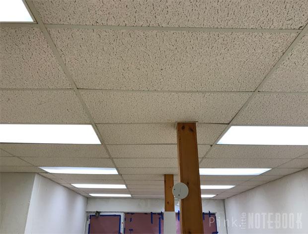 Old Dated Ceiling Tile No Problem Pink Little
